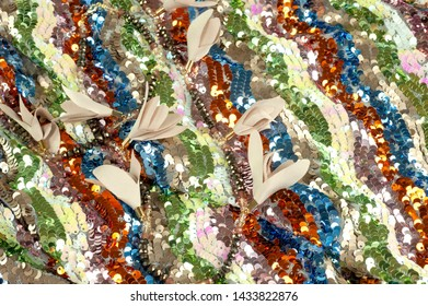 vintage fabric with shades and sparkling