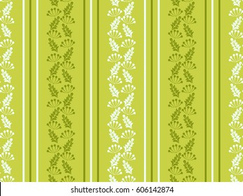 Vintage feedsack pattern in small flowers. Millefleurs. Floral sweet green seamless background for textile, cotton fabric, covers, wallpapers, print, gift wrap and scrapbooking. Raster copy.