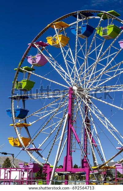 Vintage Ferris Wheel at local fairgrounds carnival