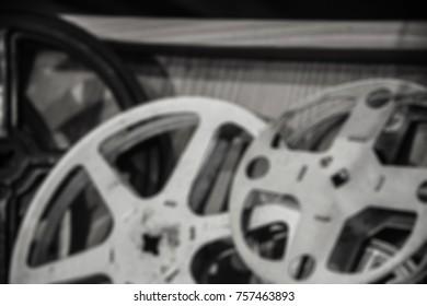 vintage film reel, blur image for background.