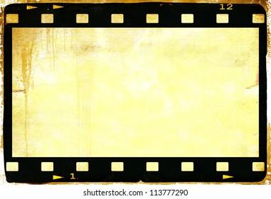 Vintage film strip frame
