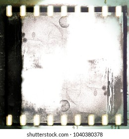 Vintage film strip frame paper texture background.