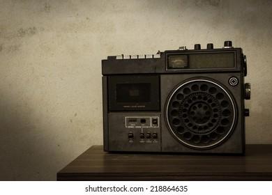 Vintage filtered of old retro radio.
