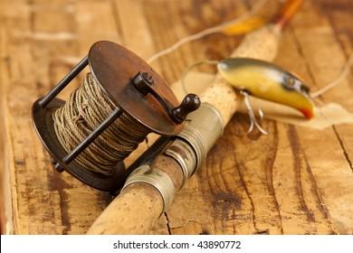 Vintage Fishing Rod Images Stock Photos Vectors Shutterstock