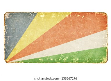 Vintage Flag of Seychelles.
