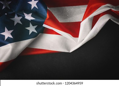 A vintage flag of the United States of America for Veteran's day