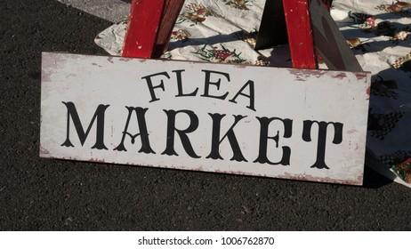 Vintage Flea Market Sign
