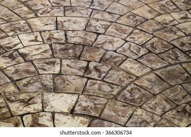 vintage floor ground retro style