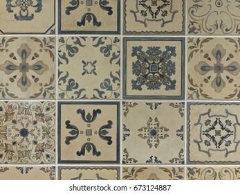 Vintage floor tile texture