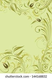Vintage floral banner. Raster copy of vector image