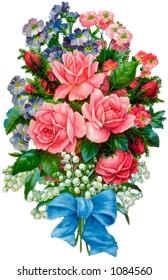 A vintage floral bouquet illustration (circa 1883)