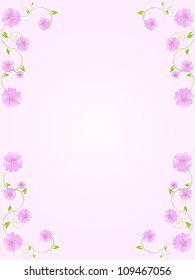 Vintage floral frame with flowers