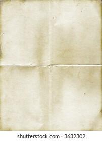 vintage folded paper