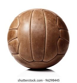 vintage football ball on white background