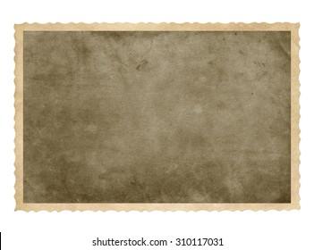 Vintage frame. Brown background