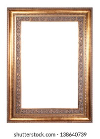 vintage frame isolated on white background