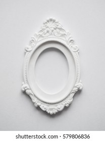 vintage frame on the wall plaster