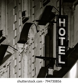 Vintage French Hotel close up 1960