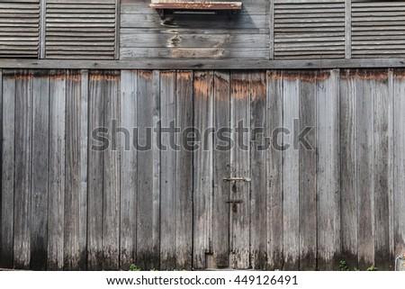 Vintage Front Door Thai Classic , Grunge Style, Wooden Folding Doors, Chino  Portuguese Door