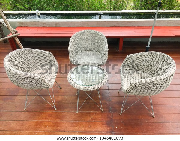 Strange Vintage Furniture Rattan Chair Desk White Stock Photo Edit Gmtry Best Dining Table And Chair Ideas Images Gmtryco