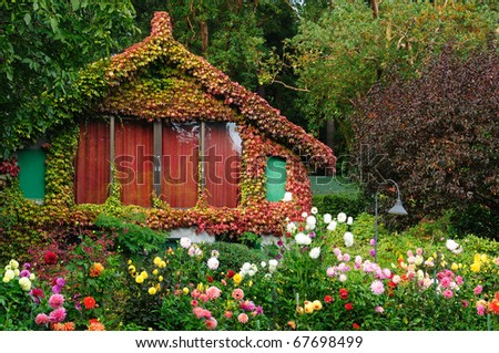 Vintage Garden House Butchart Gardens Victoria Stock Photo (Edit Now ...