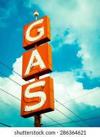 Vintage Gas Station Sign