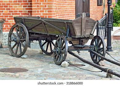 Vintage German wooden cart