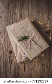 Vintage gift wrapped decorative paper