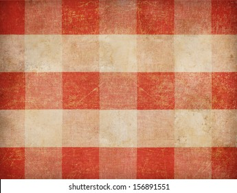 Vintage gingham tablecloth background