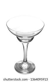 Vintage glass goblet on white background