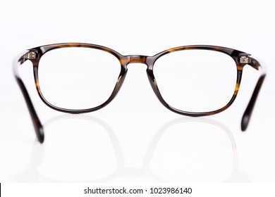 vintage glasses view through isolated on white