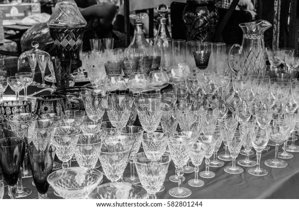 Vintage Glassware   in Black and White