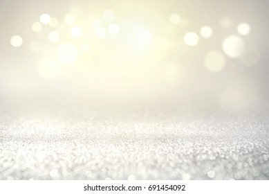 Vintage glitter lights bokeh abstract background holiday. defocused.