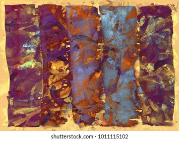 Vintage gold art background.  Watercolor hand-drawing.