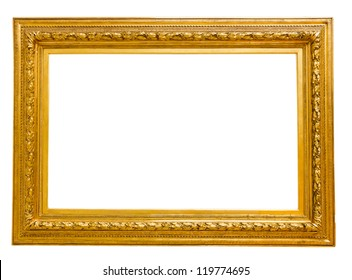 Vintage Gold Frame Isolated On White Stock Photo Edit Now