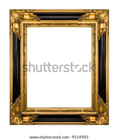 Vintage Gold Piano Black Ornate Frame Stock Photo Edit Now 9554983