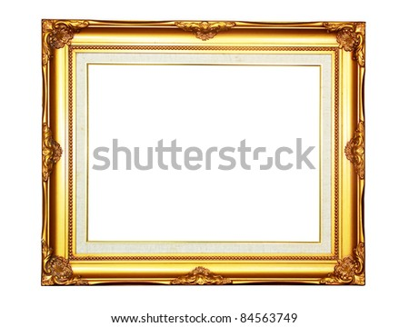 Vintage Gold Wood Photo Frame On Stock Photo (Edit Now) 84563749 ...