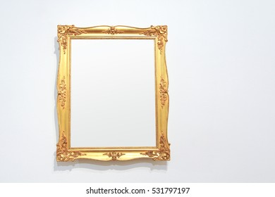 Vintage golden frame with blank copyspace