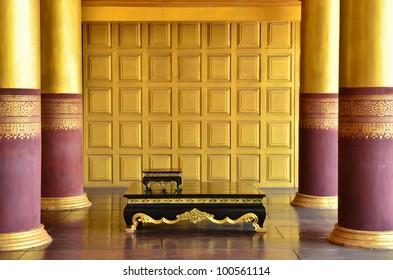 Vintage golden interior