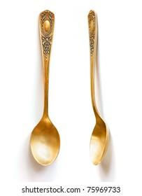 vintage golden spoon