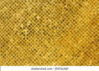 Vintage Golden tiles background