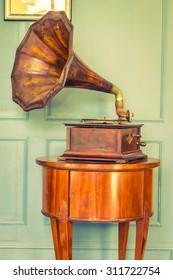 Vintage Gramaphone music box - vintage filter effect
