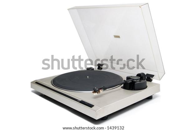 Vintage gramophone, isolated on white