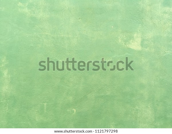 Vintage green paint concrete wall background