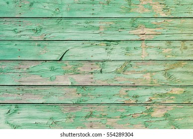 Vintage green wood background texture.