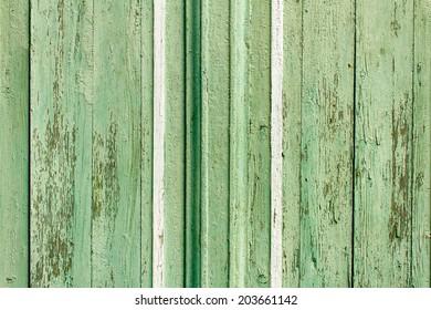 Vintage green wooden background