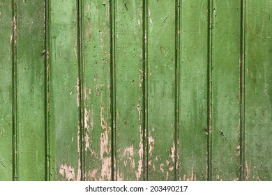 Vintage green wooden wall background