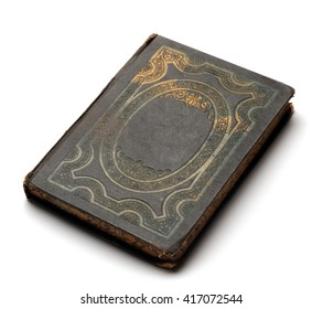 Vintage grunge book with decorated cover