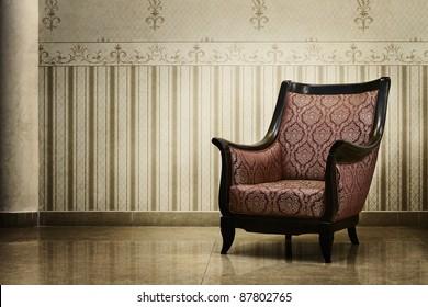 Vintage grunge empty interior