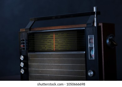 Vintage grungy radio receiver, for music ,audio,entertainment themes